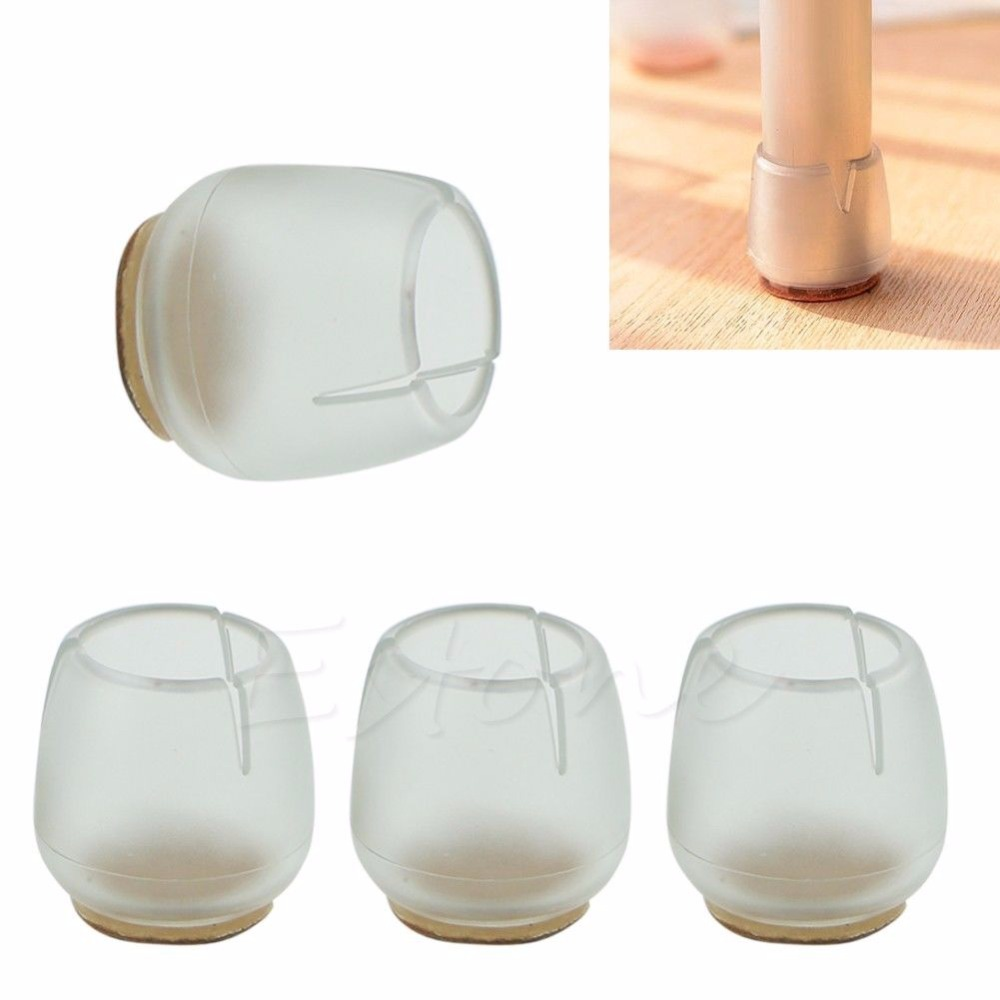 S-home  Chair Leg Cap Rubber Feet Protector Pads Furniture Table Covers Round Bottom New