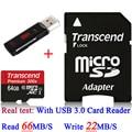 Марка Настоящее Transcend 16 ГБ 32 ГБ 64 ГБ MicroSD Micro SDHC Micro SD Card 45 МБ/С. class 10 UHS-1 TF Карты Памяти + USB 3.0 Card Reader