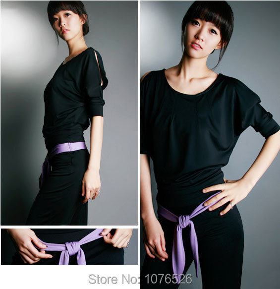 c648234de0 Hot Selling High Quality Yoga Clothes Shirt+Pants Elbow Sleeve Elasticity  Yoga Set Free Shipping-in Yoga Sets from Sports   Entertainment on  Aliexpress.com ...