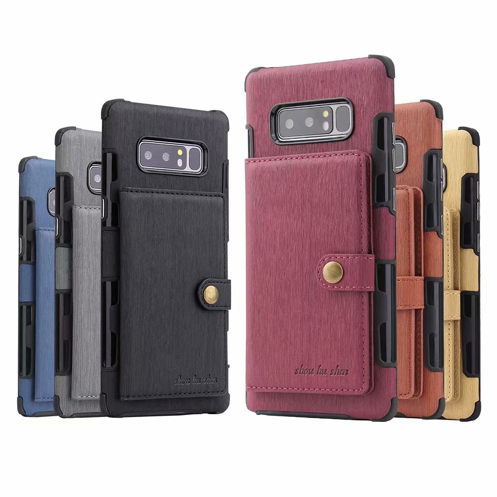Retro Card Holder Back Cover PU Leather Wallet Case For Samsung Galaxy S20