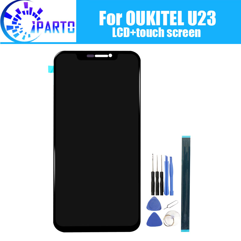 6.18 inch OUKITEL U23 LCD Display+Touch Screen 100% Original Tested LCD Digitizer Glass Panel Replacement For U23