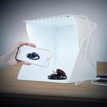 Cadiso портативный светодио дный свет мягкий рассеивающий складной студийный фотобокс 24 см 9 «черный, белый цвет мини фотографии задний план аксессуары для фотостудий lightbox
