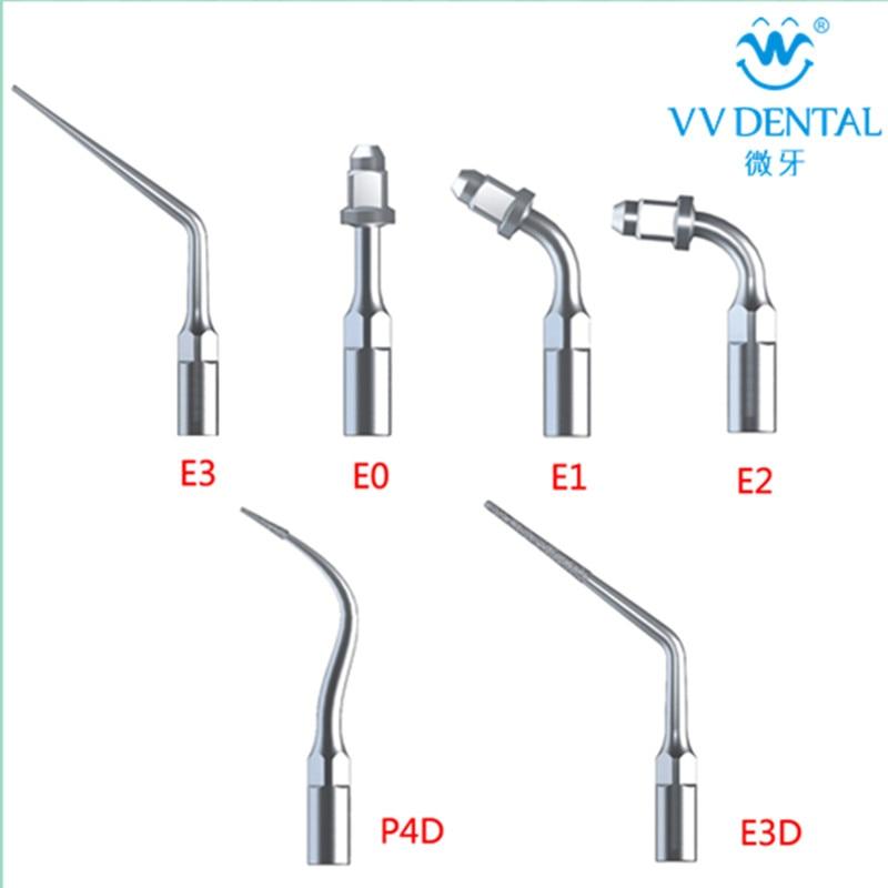 6ks E0 E1 E2 E3 P4D E3D Dentální ultrazvukový měřič Tipy pro škálování Dentální výrobky Uchycení rukojeti EMS Dibelník UDS