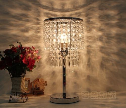 FREE SHIPPING Details about Fashion Modern Transparent Crystal Table Lamp Desk lamp Bedroom Lighting Table Lamps ems free shipping fashion fashion crystal lamp pendant light lamp stair lighting lamps