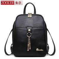 ZOOLER Women Backpacks Black Natural Cowhide Leather Multifunction Shoulder Bag For Teenagers Girls Female Bag Mochila