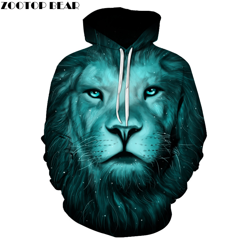 Lion King Printed Hoodies Men Women 3D Novelty Sweatshirts Fashion Pullover Novelty Hooded Streetwear Autumn Hoodies ZOOTOP BEAR