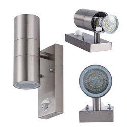 Na zewnątrz PIR czujnik ruchu Led ścianie kinkiet światła IP65 led ganek światła uchwyt lampy lampy dziedziniec lampa zewnętrzna 100 V 240 V 120 V|Zewnętrzne kinkiety LED|Lampy i oświetlenie -