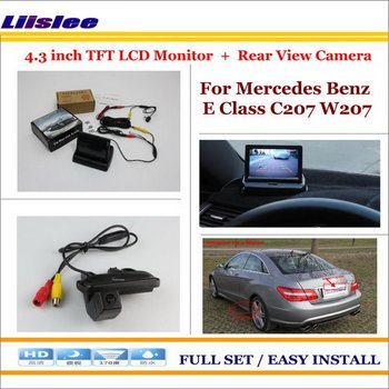 "Liislee For Mercedes Benz E Class MB W211 2002-2009 Car Rear Camera 4.3"" TFT LCD Screen Monitor = 2 in 1 Reverse Parking System"