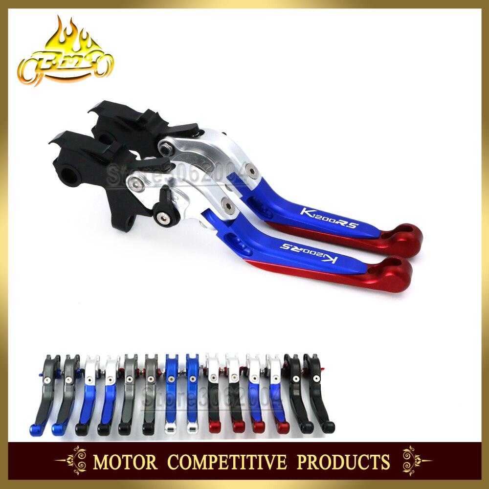 折りたたみ拡張可能調整可能なオートバイブレーキクラッチレバーbmw K1200RS 1200RS k1200 rs 1999 2001 2000 cnc  グループ上の 自動車 &バイク からの レバー、ロープ & ケーブル の中 1