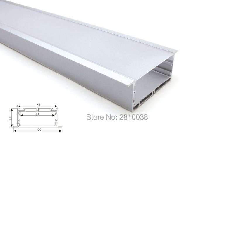 10 X 2M Sets/Lot 6000 series led aluminium profile for led strip ultra big T size aluminum led housing for ceiling lamps 50 x 2m sets lot office lighting led profile housing 75 mm tall u type led aluminum extrusion for suspension lights