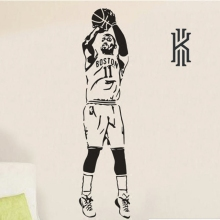 Free shipping diy Sports wall stickers Kyrie Irving Poster Basketball Star Paper Dormitory home Decoration Wallpaper