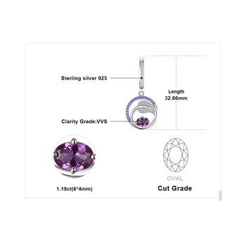 Created Alexandrite Sapphire Drop Earrings 925 Sterling Silver Earrings For Women Gemstone Korean Earrings Fashion Jewelry 2019 4