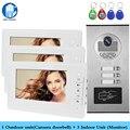 Домашней проводной 7 дюймов TFT цветной видеодомофон телефон двери Системы RFID Камера металлический 700TVL с 2/3/4 монитор для Multi квартиры