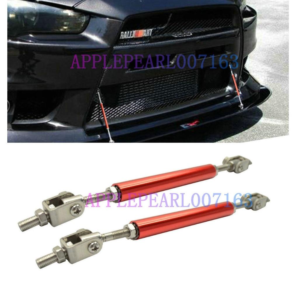 "3/"" Front Adjustable Splitter Lip Spoiler Support Rod Strut Tie Bar Red"