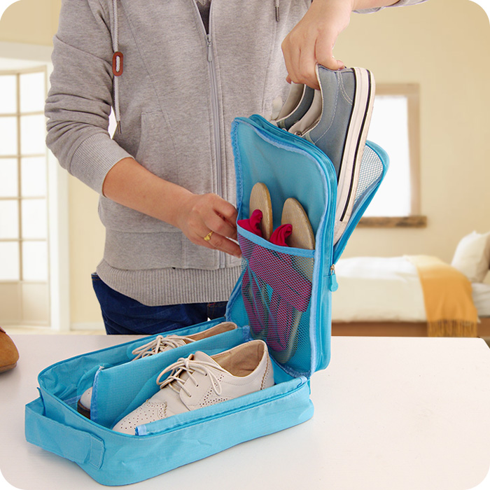 Saco de sapatos de viagem Portátil Bolsa de Viagem Sacos de Armazenamento de Caixa De Sapatos Organizador Sapatos À Prova de Poeira Classificação Bolsa Zip Lock Saco De Armazenamento Em Casa