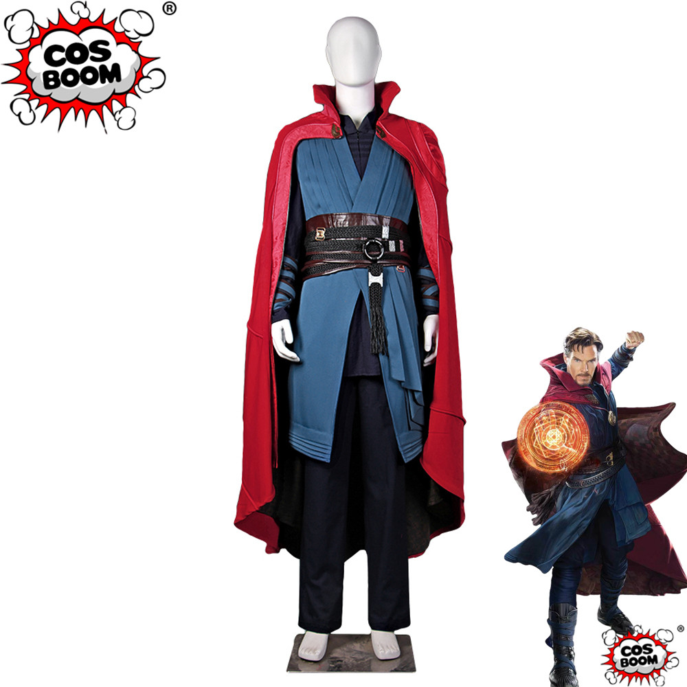 COSBOOM Doctor Strange Costume Movie Doctor Strange Stephen Strange Adult Men's Halloween Cosplay Costume