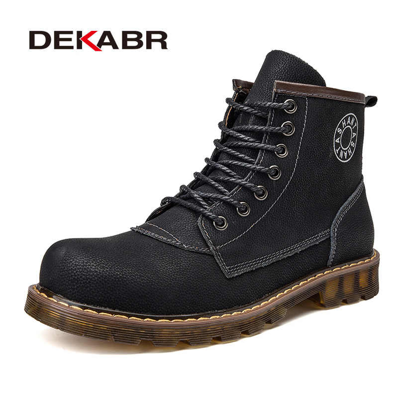 b231e4a913a4 CLAX Men Winter Shoes 2019 Genuine Leather Casual Boots Male ...