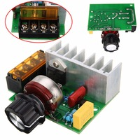 4000W AC 220V SCR Voltage Regulator Adjustable Brush Motor Speed Temperature Control Dimmer For Lamps Water