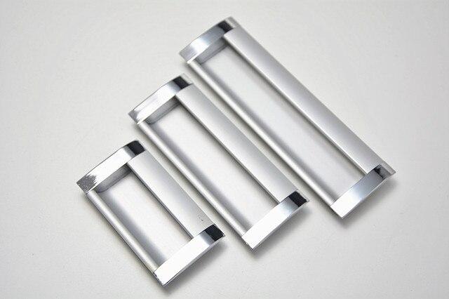 10Pcs Cabinet Furniture Hidden Recessed Flush Pull Aluminum Alloy Concealed  Handle Window Handle Sliding Door Knob