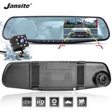 Jansite Auto Dual Lens DVR FHD Videocamera per auto Video Recorder Specchio Retrovisore Con 8 ha condotto la luce Posteriore del dvr Dashcam Auto registrator