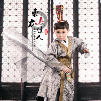 Palace Spy for the Emperor Boys Costume Hanfu Photography Little Boy Stage Performance
