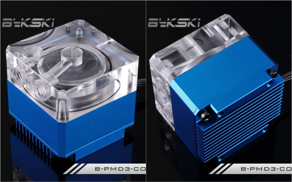 Bykski B-PMD3-COV Water Cooling Pump with Heatsink 500L DDC Blue bykski b pump pav water cooling pump with heatsink 300l