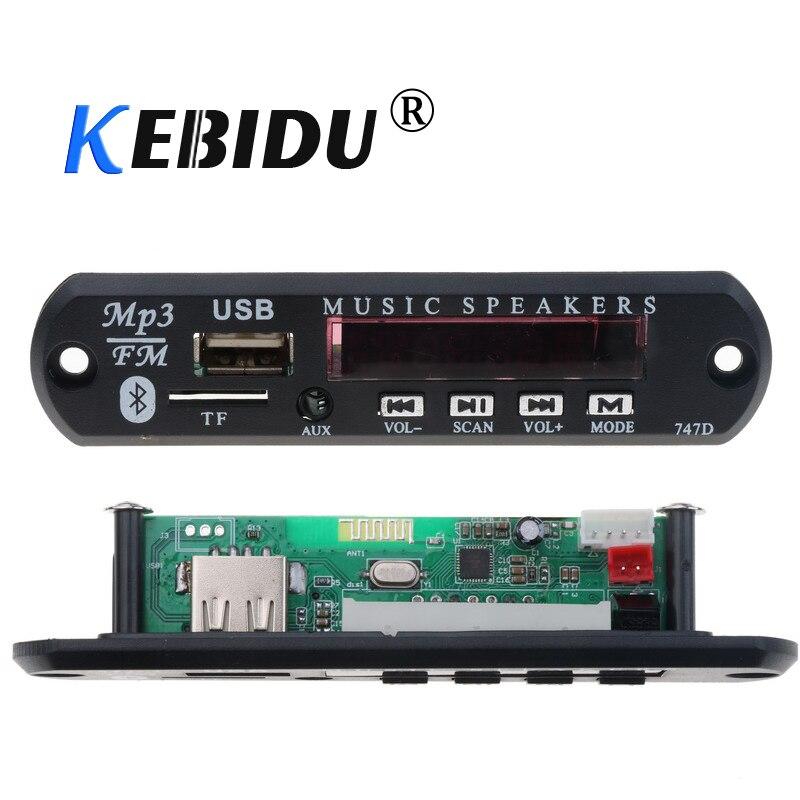 KEBIDU 5V 12V Car MP3 WMA Decoder Board Wireless Bluetooth Audio Module USB TF Radio With Remote Control For Car Accessories DIY