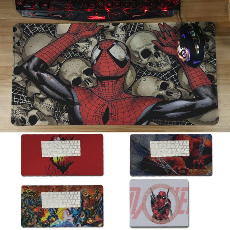 Babaite Hot Sales Comics Marvel Spiderman Comfort Mouse Mat Gaming Mousepad Unique Desktop Pad Game Lockedge Large Mousepad