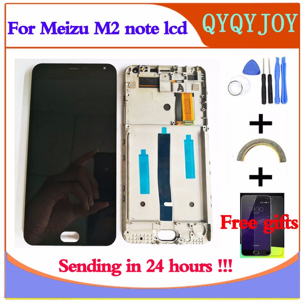 Q&Y QYJOY AAA Quality LCD+Frame For MEIZU M2 Note Lcd Display Screen Replacement For MEIZU M2 Note Digiziter Assembly