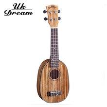 UK Dream US-224P Concert Tenor Ukulele 21 Inch Mini 4Strings Guitar Ukelele Guitarra Handcraft Picea Asperata Zebra Wood