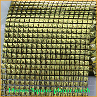 Free Shipping 5yard Lot Smooth The Pyramids 18rows Plastic Rhinestones Mesh Trimming Sewing Trim Wedding Dress