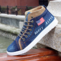 Vintage High Top Denim Canvas Shoes Men 2016 Platform Men's Shoes Casual Breathable Skate Shoe Man Footwear