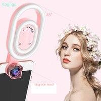 Kogngu 56 LED Lamp Selfie Light Flash Wide Angle Phone Lens Flashlight LED Selfie Light Clip on Macro Lens