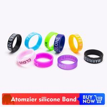 Volcanee Vape It Decoration Band Words Silicone Ring for 22mm Atomizers Electronic Cigarettes Accessories DIY (10pcs/lot)(China)