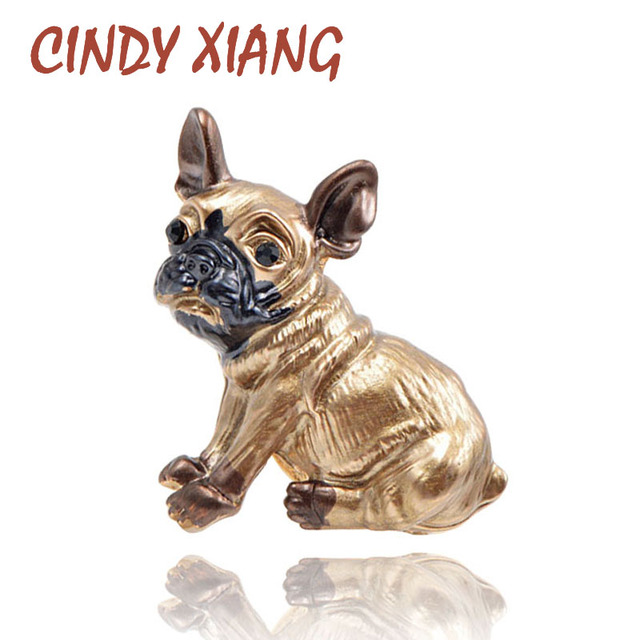 CINDY XIANG Cute Small Dog Brooches for Women and Kids Enamel Animal Brooch Pin