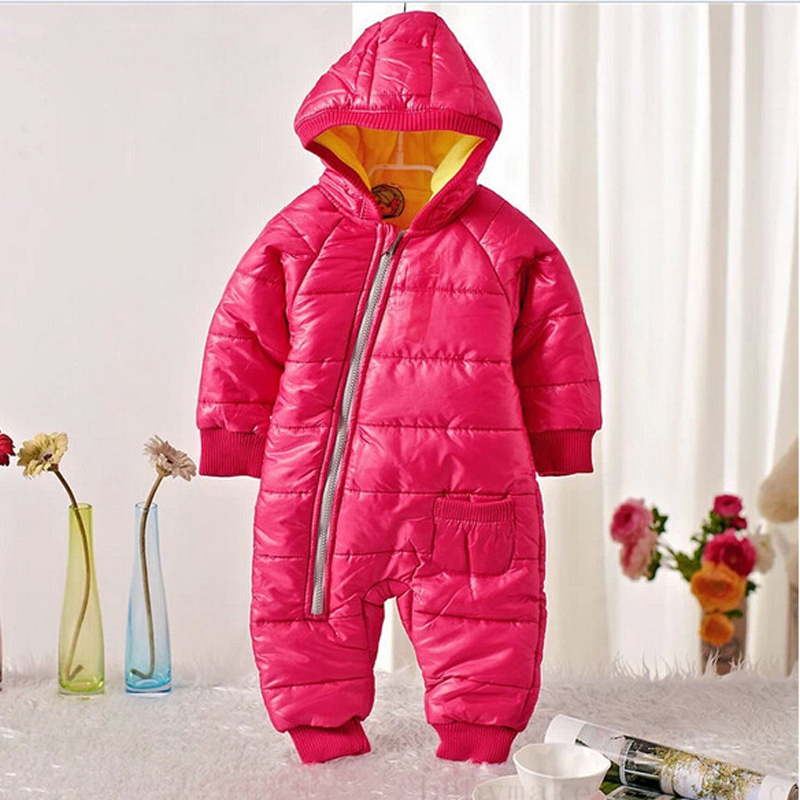 2018 High Quality Baby Rompers Winter Thick Cotton Boys Costume Girls Warm Clothes Kid Jumpsuit Children Outerwear Baby Wear