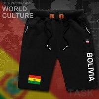 Bolívia Boliviano homem calções de praia dos homens shorts da placa dos homens bandeira bolso com zíper suor treino musculação 2017 BOL Buliwya Wuliwy