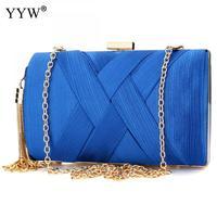 Fashion 2018 Gold Tassel Female Clutch Bag With Chain Shoulder Handbags Evening Shoulder Clutch Bag Solid 10 Color Bolsos Mujer