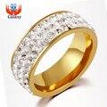 Большая Акция! новая Мода Любители Кристалл CZ Циркон Обручальное Кольцо Полный Размер Чистого Золота Гальваническим Свадебные Украшения Оптовая BKJZ019