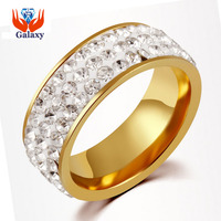 Big Promotion! New Fashion Lovers Crystal CZ Zircon Engagement Ring Full Size Pure Gold Color Wedding Jewelry Wholesale BKJZ019