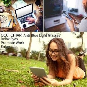Image 4 - OCCI CHIARI Eyewear Frames Optical Eyeglasses Eyewear Gafas Rectangle Men Black Prescription Glasses Frames Clear Lens W CAPATI