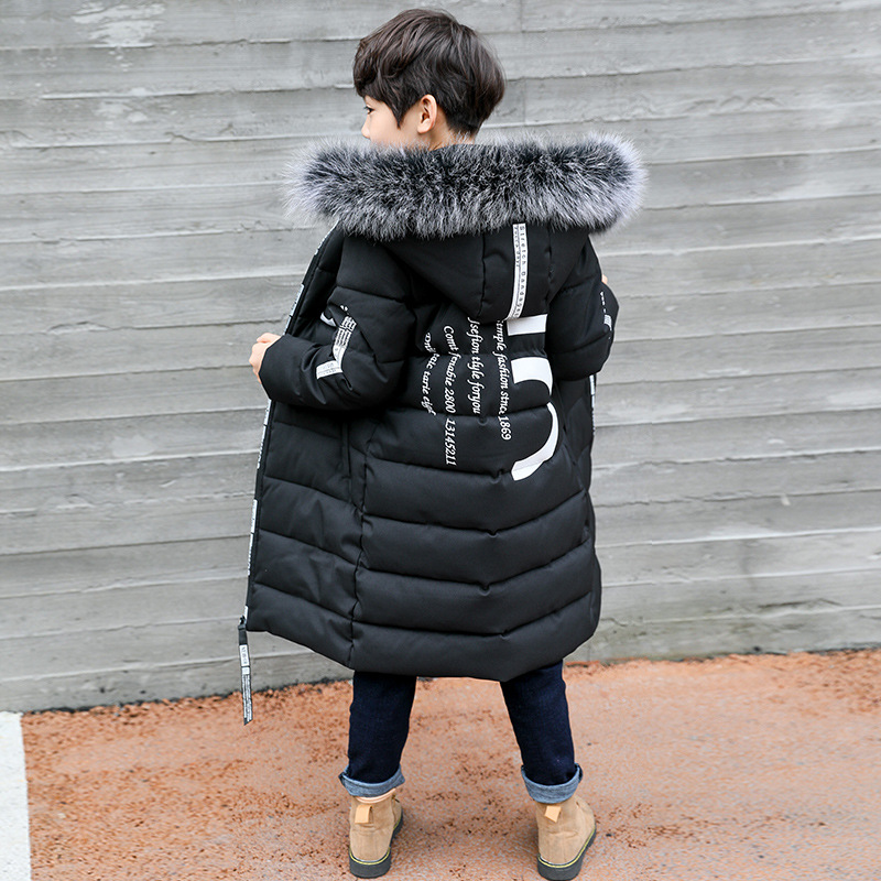 Winter Thicken Windproof Warm Kids Coat Waterproof Children Outerwear Kids Clothes Boys Jackets For 3-12 Years Old