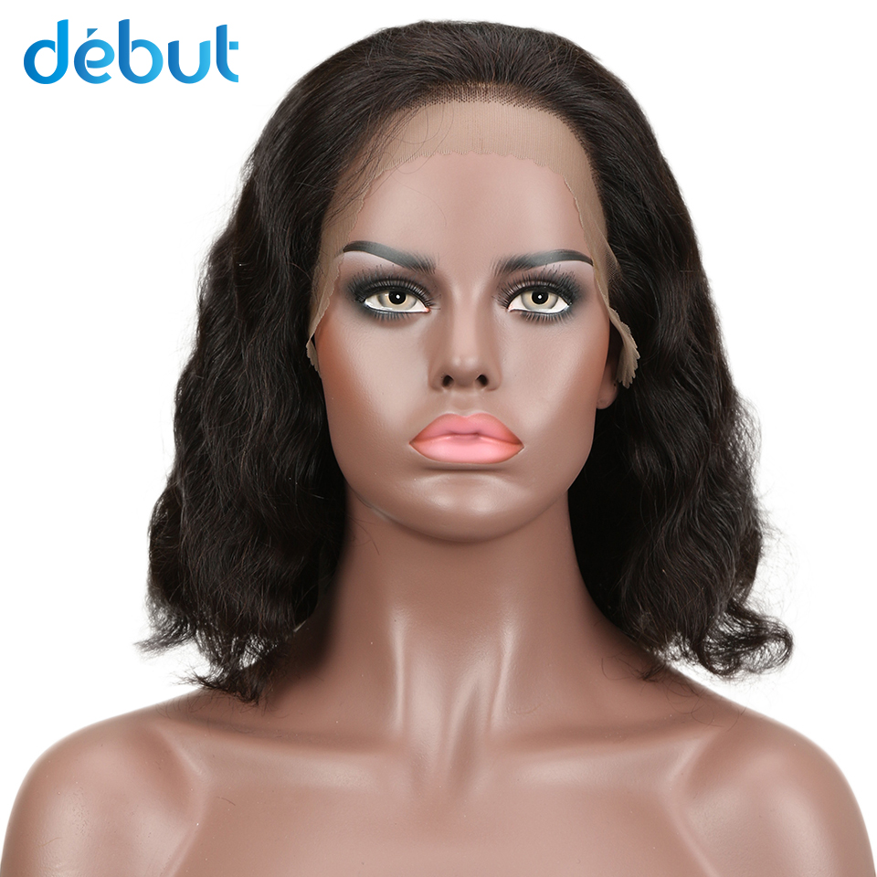 Debut Remy Brazilian Lace Front Human Hair Wigs LACE WIG CURLY BOB Natural Full Lace Human Hair Wigs For Black Women