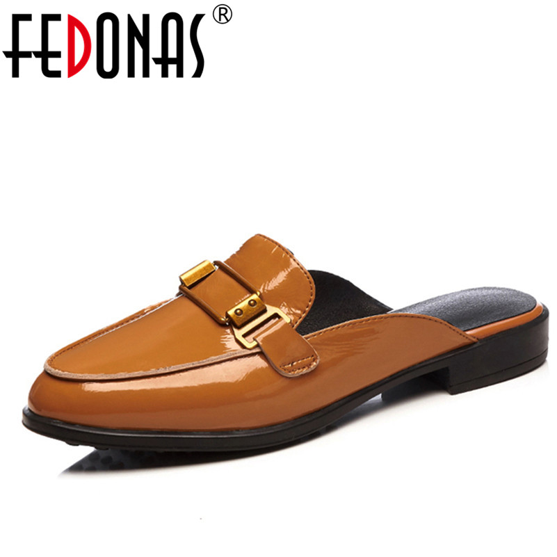 FEDONAS Women Sandals 2018 New Spring Summer Genuine Leather Shoes Woman Low Heels Sandals Fashion Female Ladies Shoes Slippers fedonas brand women summer gladiator low heeled sandals fashion comfort slippers genuine leather elegant shoes woman sandals