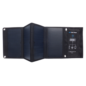 Image 2 - Xionel 28W Folding Solar Panel Charger Portable with Fast Charge 3 USB Port High Efficiency Sunpower Solar Panel for Cellphone