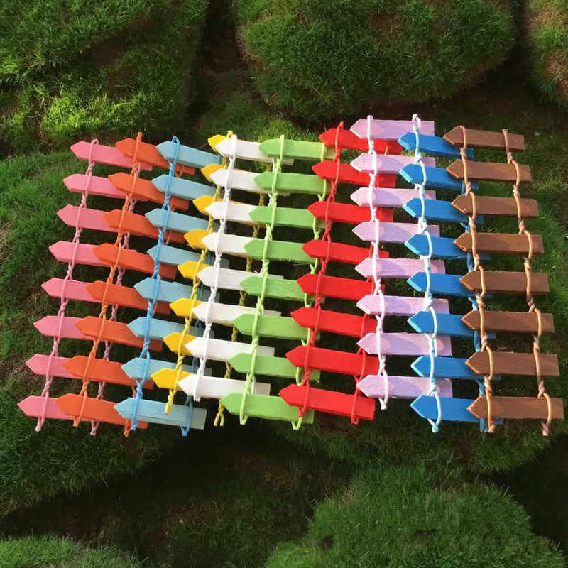 10cm*3cm Miniature Small Wood Fence DIY Dollhouse Fairy Garden Micro Plant Pot Decor Bonsai Terrarium Ornament