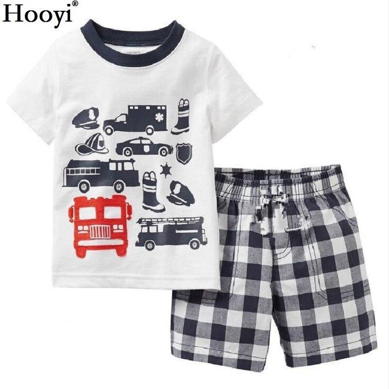 Fashion Boys Clothes Kids Pajamas Sets Racing Luxury Car