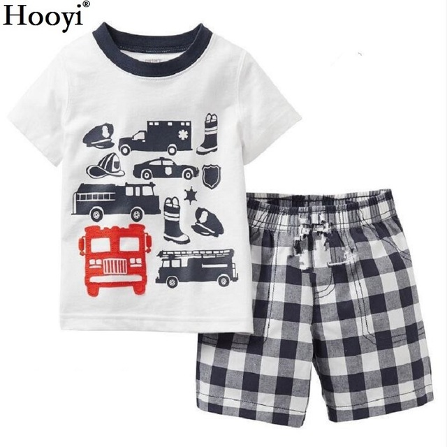 Fashion Boys Clothes Kids Pajamas Sets Racing Luxury Car Children T
