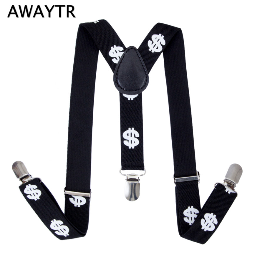 Adjustable Pant Trouser Stretchy 4 Strap Clip Braces Belts Buckle Suspender NE