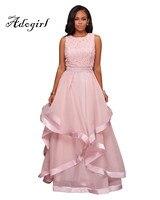 Adogirl Pink Black Elegent Party Long Dress 2017 Women Plus Size XXXL Sexy Sleeveless Big Hem Maxi Dress England Style Ball Gown